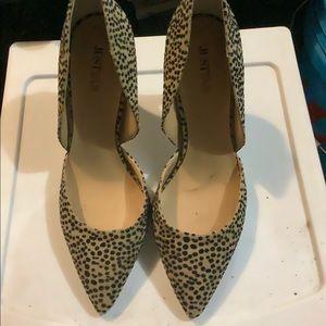 JustFab Leopard Heels
